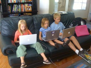 three kids with macs picture