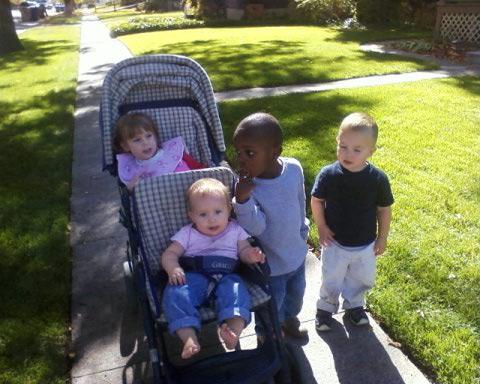 kids walk picture