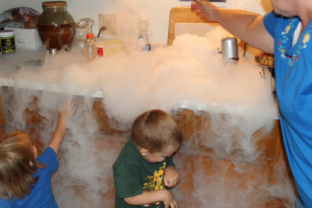 playing with liquid nitrogen picture