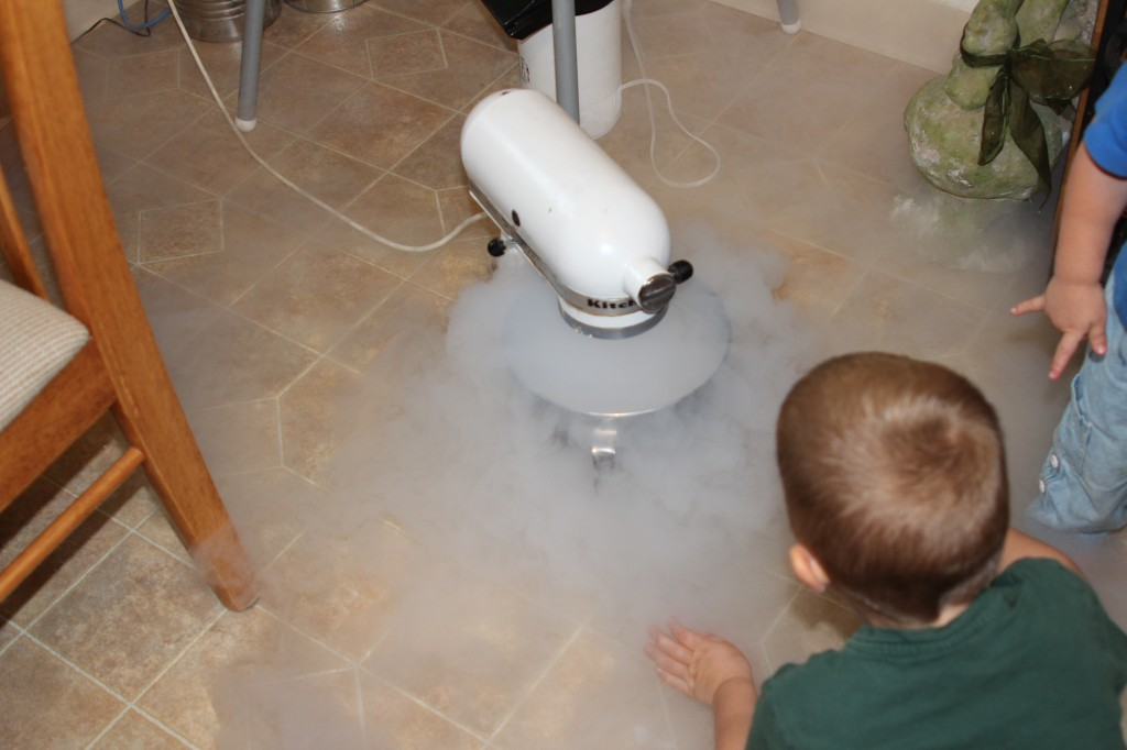 pouring liquid nitrogen picture