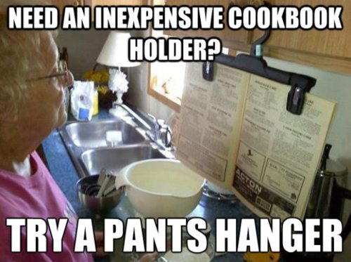 I probably relate because I am always wishing I had a recipe holder!!