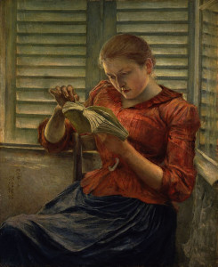 Woman_Reading_(Kuroda_Seiki)