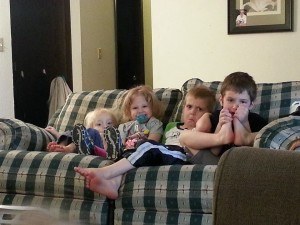 cousins on a couch