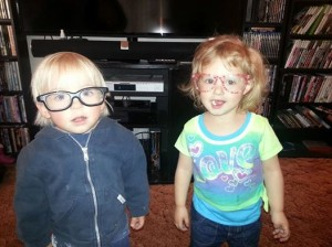 children in glasses