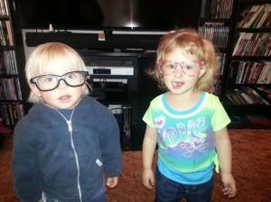 children in glasses