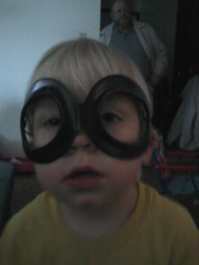 boy in aviation goggles