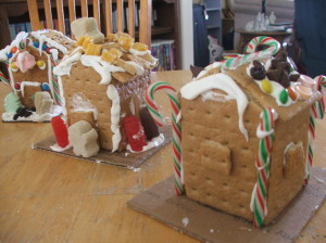 Kids gingerbread houses